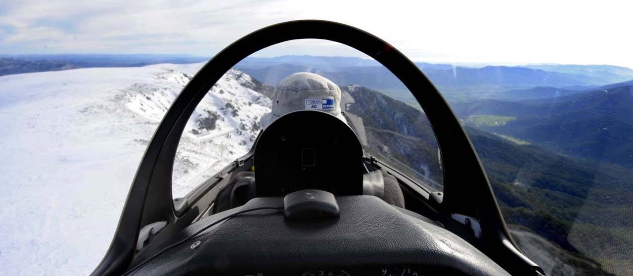 Snow through the cockpit